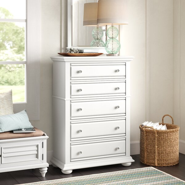 Kaleb 5 Drawer Chest by Beachcrest Home