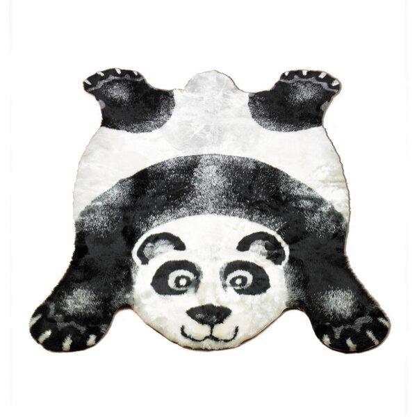 Panda Black Area Rug by Walk On Me