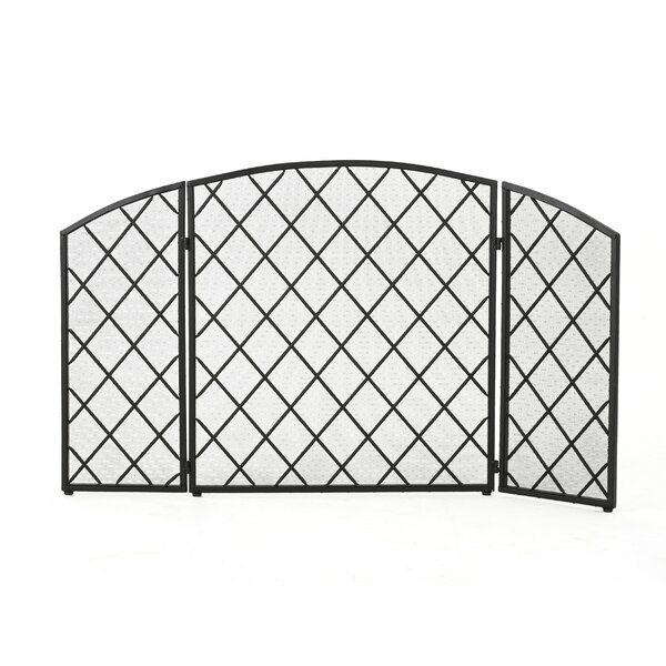 Schumacher 3 Panel Iron Fireplace Screen by Winston Porter