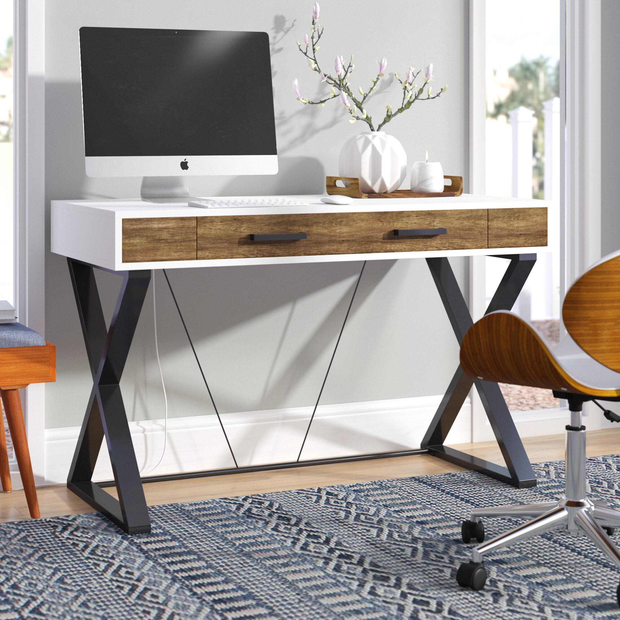 Merveilleux Ebern Designs Hakes Campaign Computer Desk U0026 Reviews | Wayfair