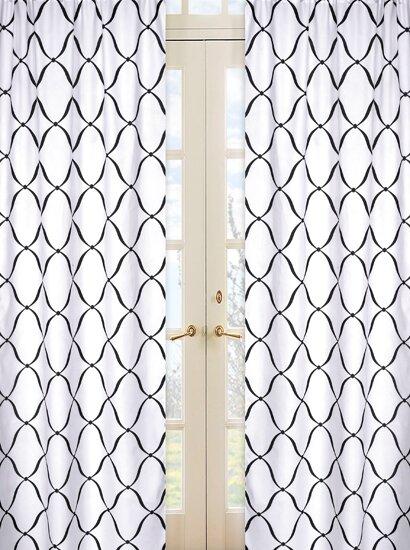 Princess Geometric Semi-Sheer Rod pocket Curtain Panels (Set of 2) by Sweet Jojo Designs
