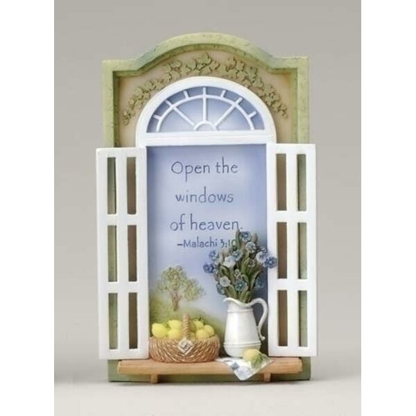 Open The Windows of Heaven Bible Scripture Plaques Sculpture by The Holiday Aisle