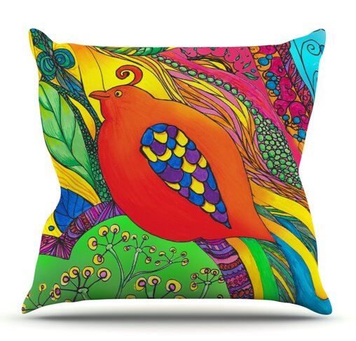 Psycho-Delic Dan by Catherine Holcombe Outdoor Throw Pillow by East Urban Home