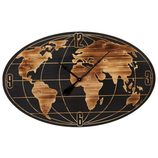 Restrepo World Map Wall Clock by Darby Home Co| @ $189.99