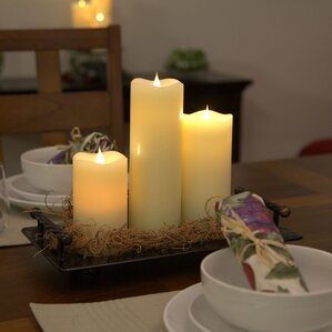 white flameless candle - Flameless Candles With Timer