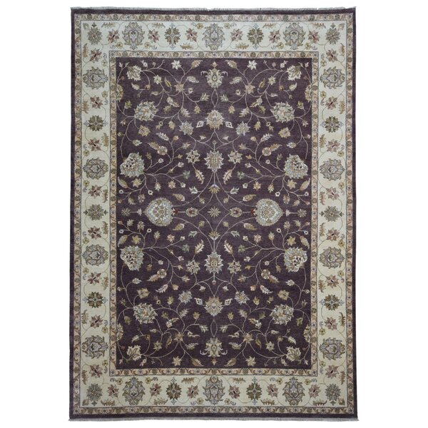 One-of-a-Kind Maribel Oriental Hand Woven Wool Brown/Beige Area Rug by Isabelline