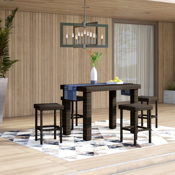 Belton 5 Piece Bar Height Dining Set By Mercury Row