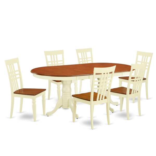 7 Piece Dining Set by East West Furniture East West Furniture