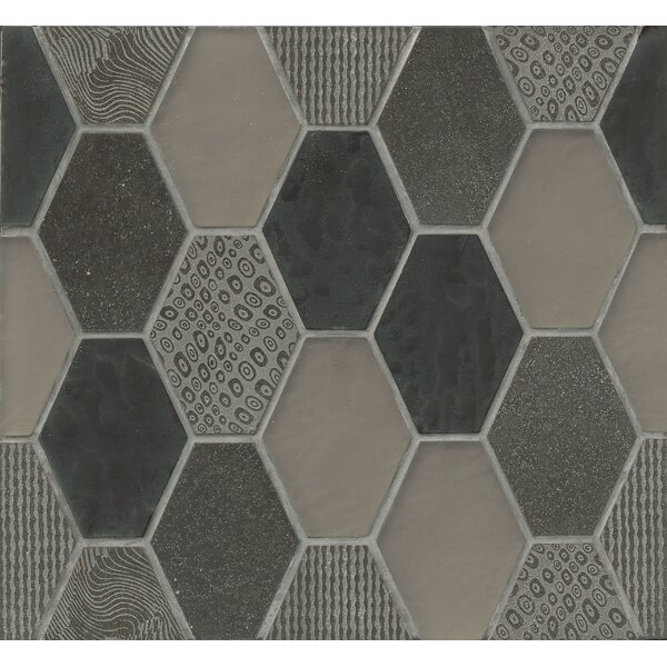 DuJour Glass and Stone Mosaic Tile in Charcoal by Grayson Martin