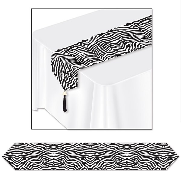 Printed Zebra Print Table Runner by The Beistle Company
