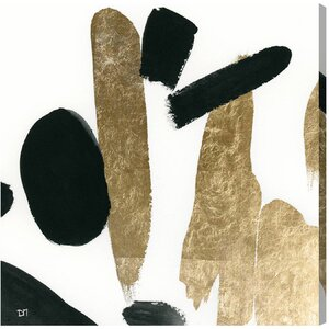 'Big Gold' Painting Print on Wrapped Canvas by Willa Arlo Interiors
