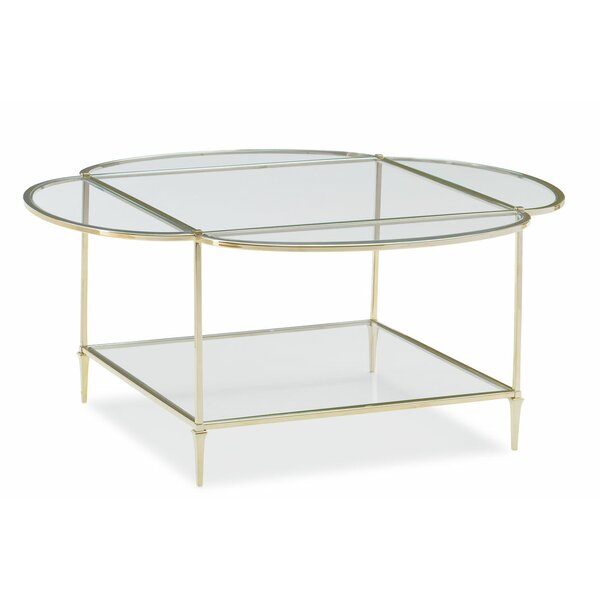 Glass Top Coffee Table By Caracole Classic