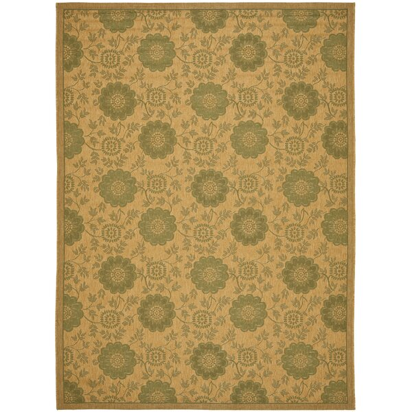 Wysocki Natural/Green Indoor/Outdoor Area Rug by August Grove