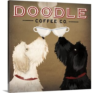 'Doodle Coffee Double IV' by Ryan Fowler Vintage Advertisement on Wrapped Canvas by Great Big Canvas