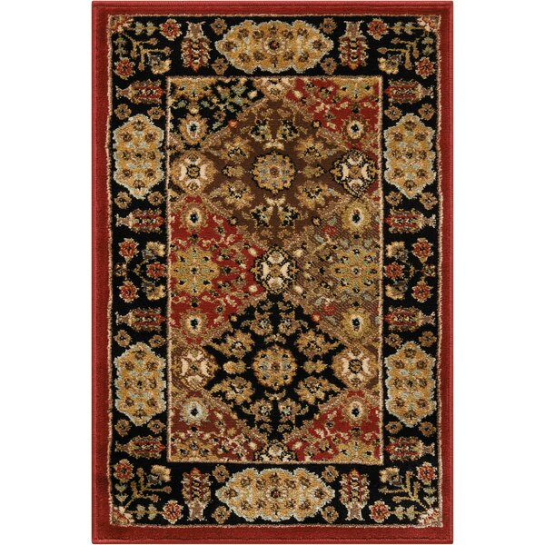 Ravens Brown/Black Area Rug by Charlton Home