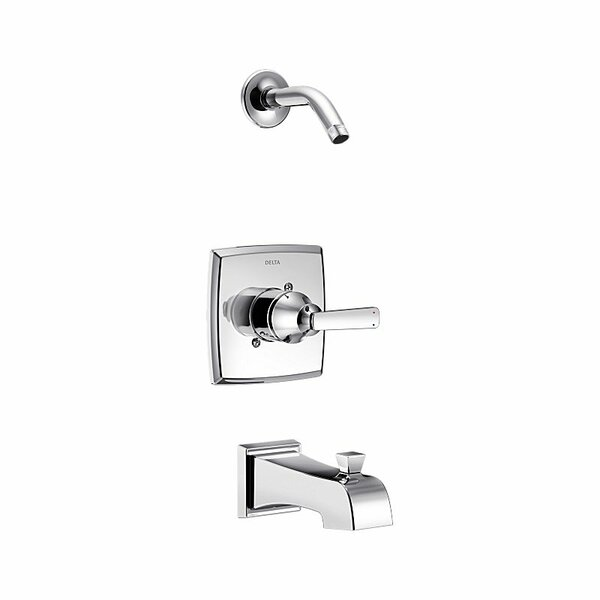Ashlyn Pressure Balance Tub and Shower Trim with Metal Lever Handle and Monitor by Delta
