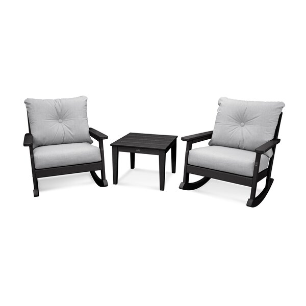 Vineyard Deep Seating 3 Piece Conversation Set with Cushions by POLYWOOD®