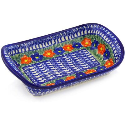 Polish Pottery 10 Rectangle Platter by Polmedia