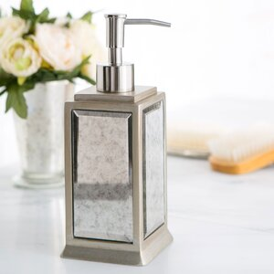 Distressed Glass Lotion Dispenser