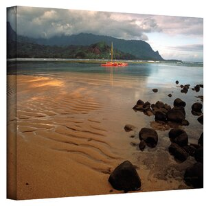 'Hanalei Bay at Dawn'' Photo Graphic Print on Canvas by Beachcrest Home