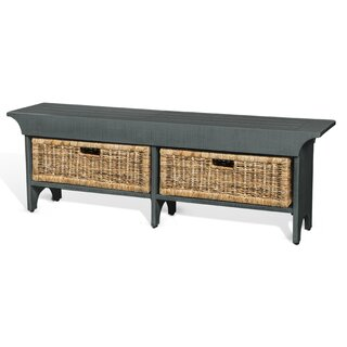 Andrew Wood Bench with Storage Bench by Gracie Oaks SKU:EC483399 Information