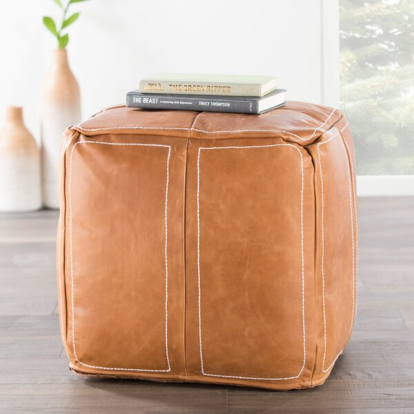 Ultra By Nikki Chu Leather Pouf by Nikki Chu