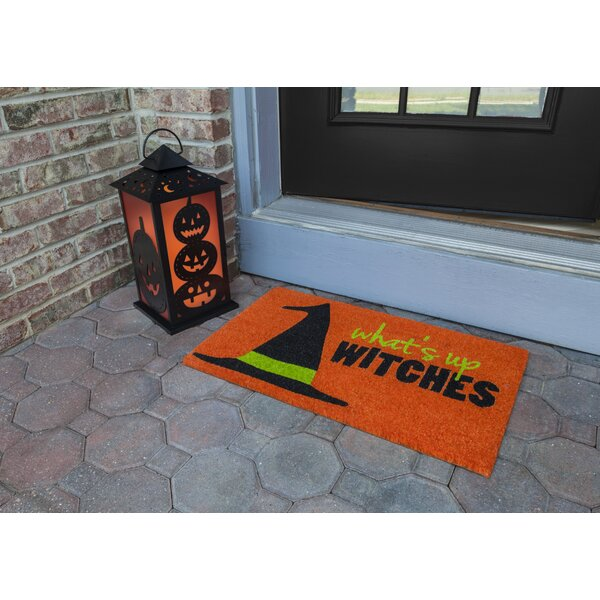 Chabot Whats Up Witches Non Slip Coir Doormat By The Holiday Aisle.