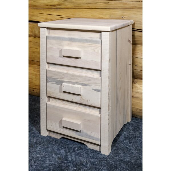 Abella 3 Drawer Nightstand by Loon Peak Loon Peak