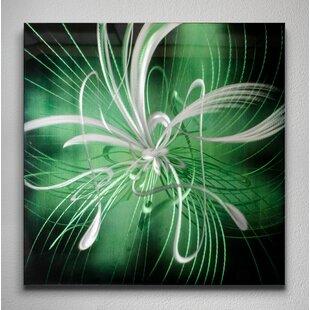 Starburst Graphic Art Plaque In Green