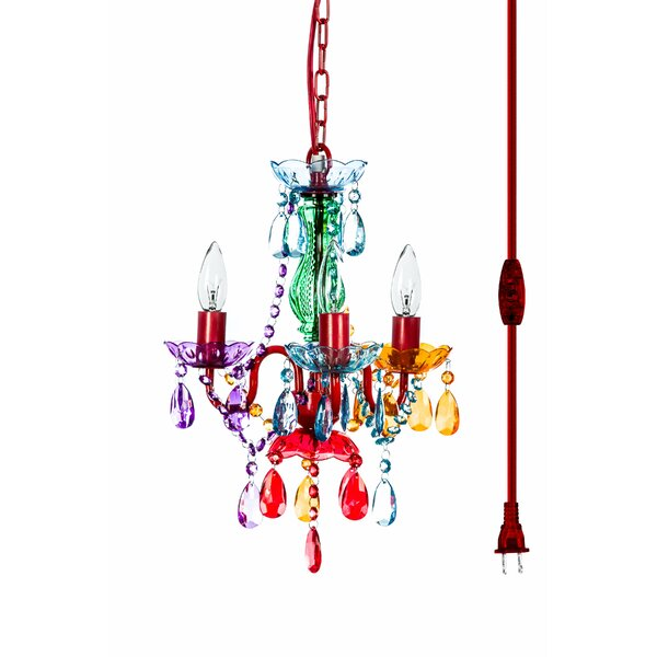 3 - Light Candle Style Classic / Traditional Chandelier With Acrylic Crystal Accents By House Of Hampton