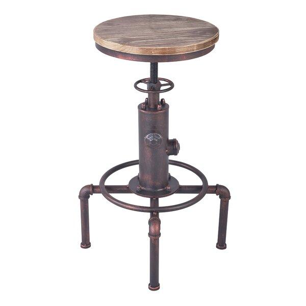 Goldstein Adjustable Height Bar Stool by Williston Forge