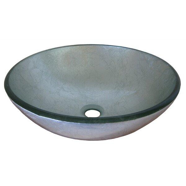 Argento Glass Circular Vessel Bathroom Sink by Novatto