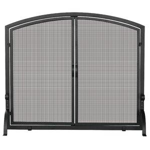 black iron fireplace screen. Single Panel Wrought Iron Fireplace Screen Screens  Doors You ll Love Wayfair