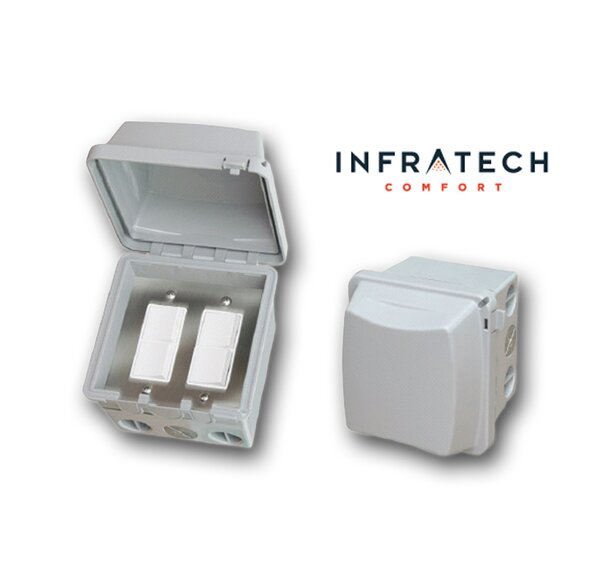 Double Surface Mount Waterproof Duplex Switch by Infratech