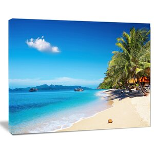 Tropical Beach Thailand Photographic Print on Wrapped Canvas by Design Art