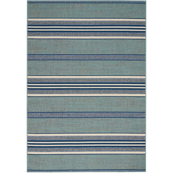 Lido Aqua Blue Indoor/Outdoor Area Rug by Barclay Butera