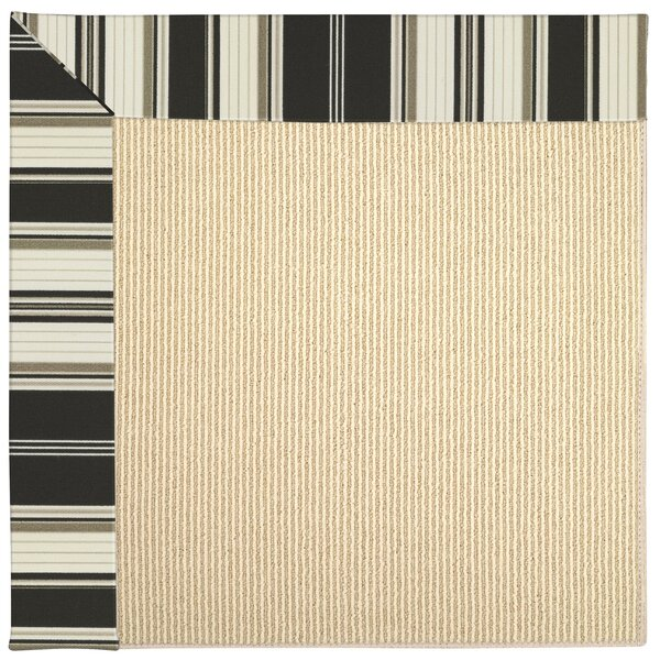 Lisle Machine Tufted Onyx Indoor/Outdoor Area Rug by Longshore Tides