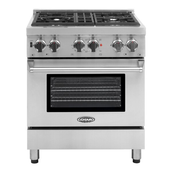 30 Free-standing Dual Fuel Range by Cosmo