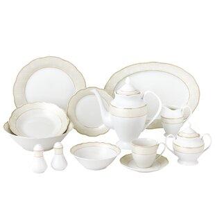 Noritake Crestwood Gold 50 Piece Dinnerware Set, Service for 8 | Wayfair