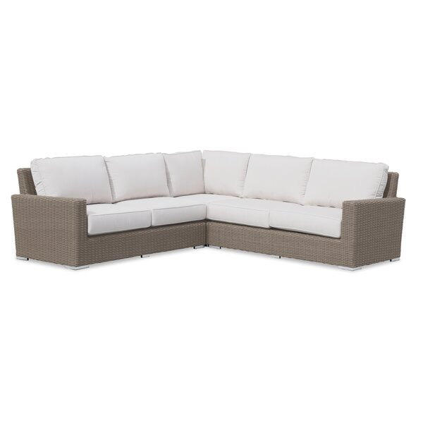 Coronado Patio Sectional with Sunbrella Cushions by Sunset West