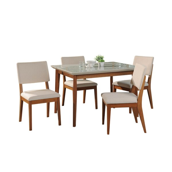 Tedeschi 5 Piece Dining Set by Union Rustic