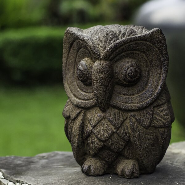 Volcanic Ash Alluring Owl Statue by My Spirit Garden