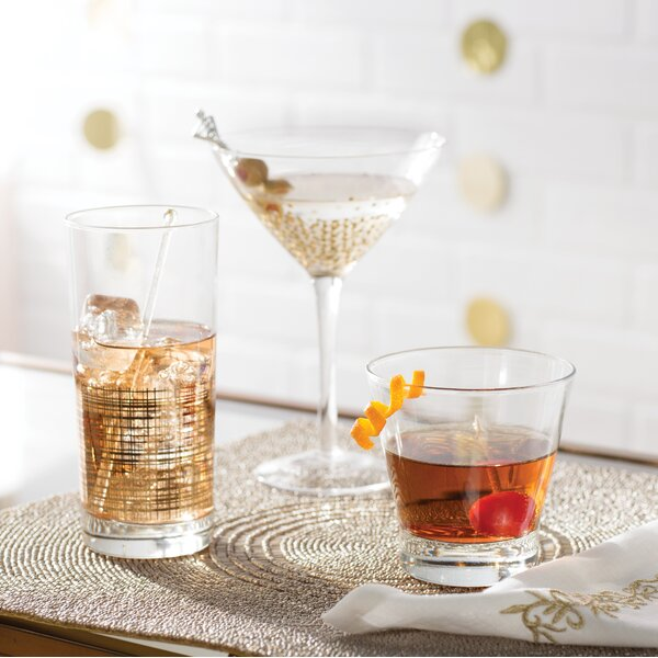 Conner 10 Oz. Martini Glass (Set of 4) by Mint Pantry