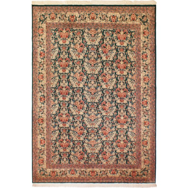 One-of-a-Kind Roca Hand-Knotted Heritage Ivory/Pink 9'4 x 12'6 Wool Area Rug