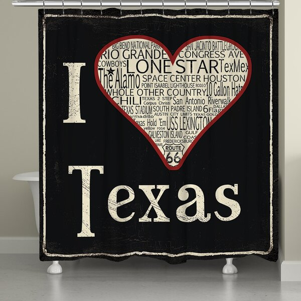 I Love Texas Shower Curtain by Laural Home