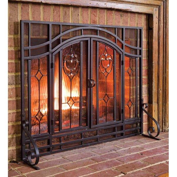 Single Panel Steel Fireplace Screen By Plow Hearth.