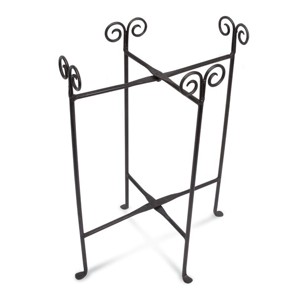 Carolyn Iron Oval Party Tub Floor Stand by Fleur De Lis Living