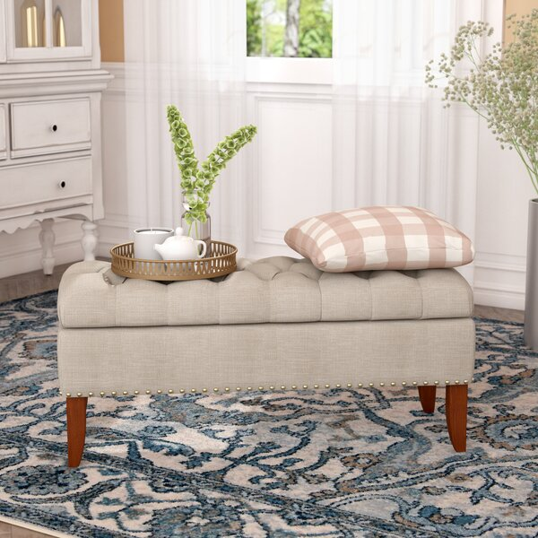 Mortensen Upholstered Storage Bench by Charlton Home