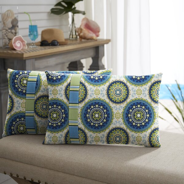 Meldrum Indoor/Outdoor Lumbar Pillow (Set of 2) by Bloomsbury Market