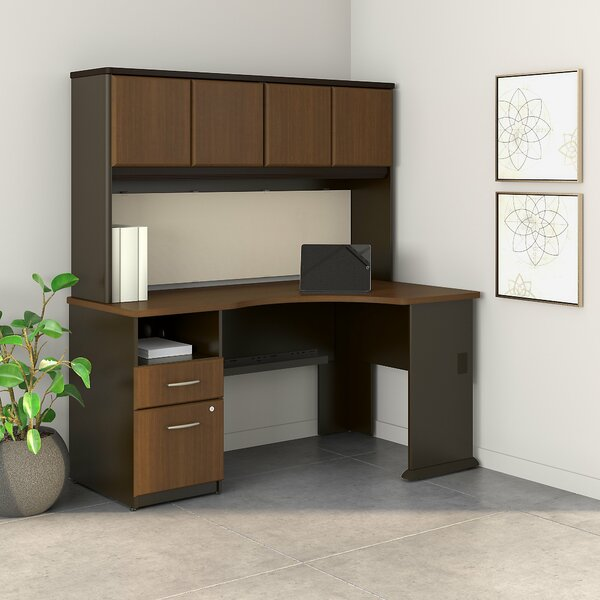 Series A L Shaped Corner Desk with Hutch by Bush Business Furniture